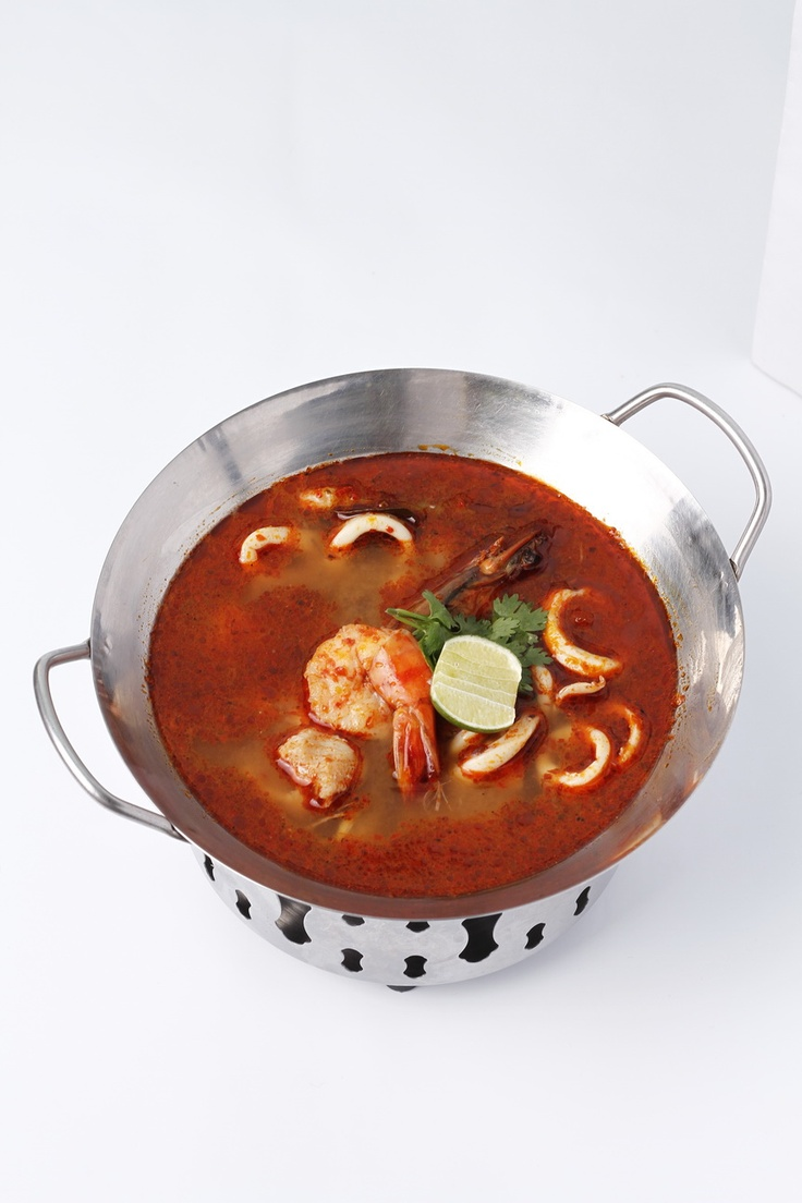 All the way from Thailand, just for this summer, here's Tom Yam Soup!