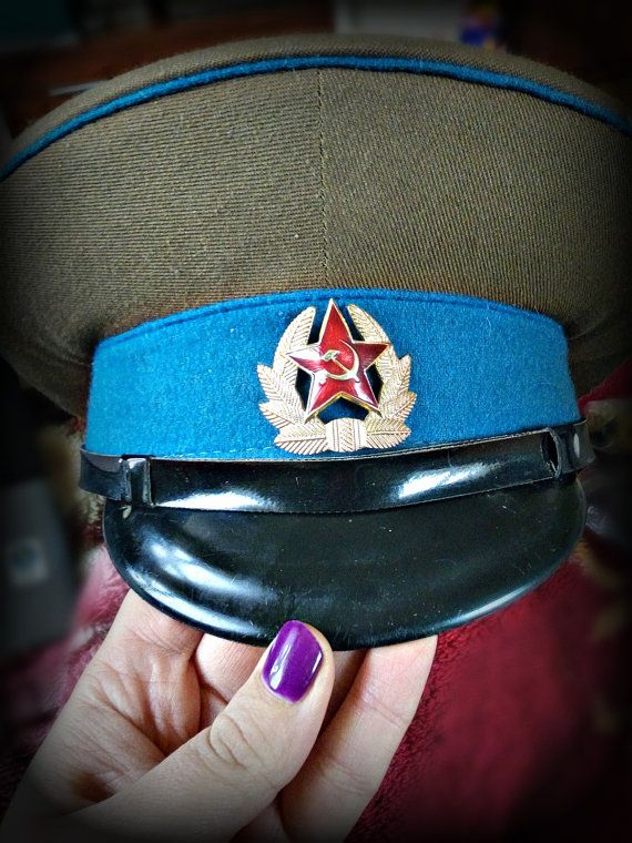 USSR Russian Soviet Border Patrol Officers Visor Hat Cap Red Army Soviet Union Cap- Size 57cm. 100% original and used. Inside there is written