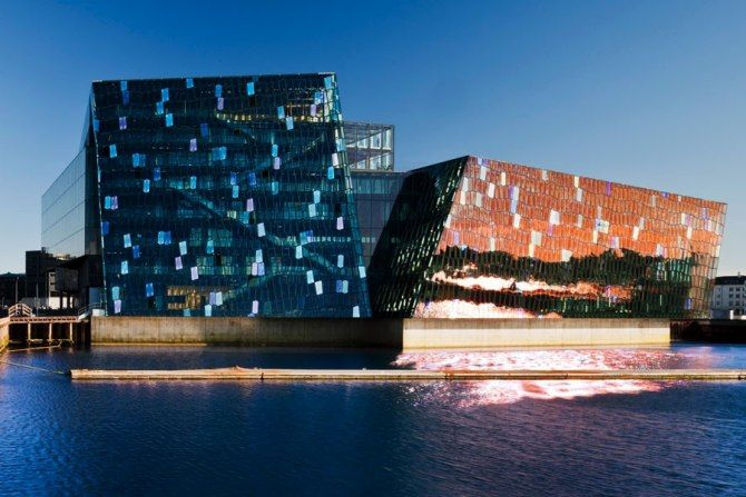#architecture Reykjavík's Harpa Concert Hall and Conference Center, a collaboration between the architecture firms Henning Larsen and Batteríið and artist Olafur Eliasson