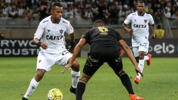 Robinho, durante confronto entre Atlético-MG e Ponte Preta