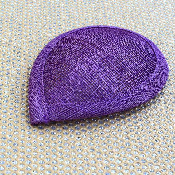 Teardrop tovenaar basis sinamay stro hoedenzaak levering, bruidssluier, cocktail hoed base - PURPLE - DIY kerk hoed bruidsmeisje hoed te maken