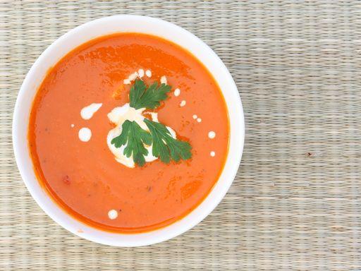 Soupe de tomates au fenouil - Recette de cuisine Marmiton : une recette