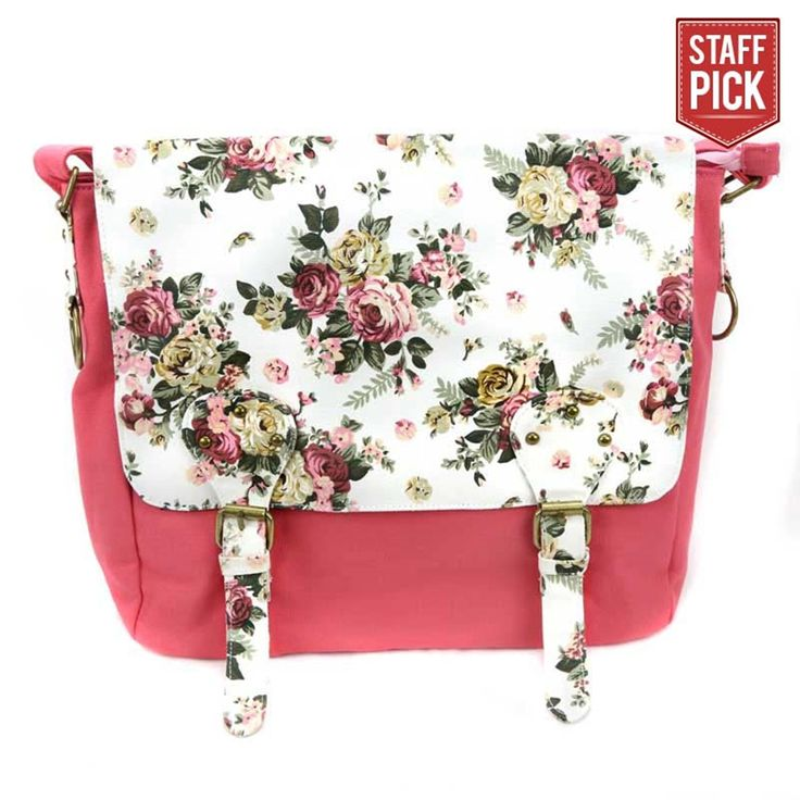 Pink Floral Sister Missionary Tote | Shoulder Bags & Luggage on LDSBookstore.com (#CF-P67300)