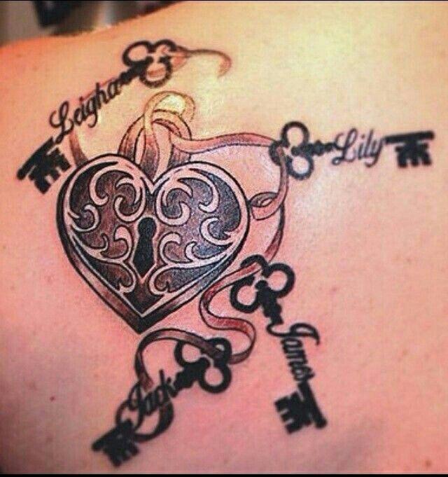 Lick key tattoo