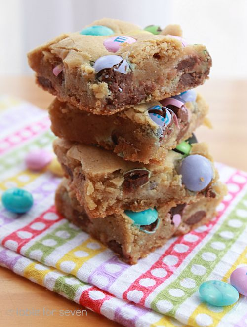 table for seven: M&M Cookie Bars