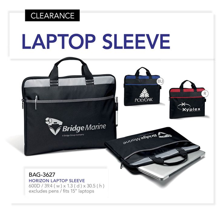 Over the coming weeks, we will be discontinuing numerous products to make way for so a staggering new collection arriving in June. We recommend taking advantage of these great offers:  Order 100 of more of these Laptop Sleeves and receive a FREE one-colour, one-position screen print on the Sleeve. Setup Charge excluded.  BAG-3627 – Horizon Laptop Sleeve  Clearance Price (100 or more) – R33.99 excl VAT  Standard Price – R45.99 excl VAT