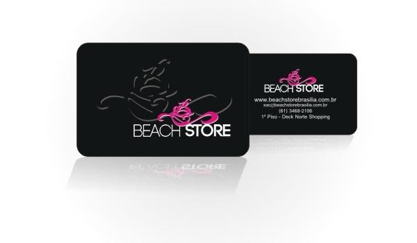 Cartão de visitas para loja de moda praia em Brasília.