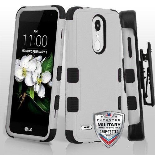 LG Tribute Dynasty Natural Gray/Black TUFF Hybrid Phone