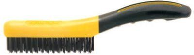"""Allway Tools SB416 10"""" Soft Grip Carbon Steel Shoe Handle Wire Brush by AllwayTools. $6.99. SB416 Features: -Wire brush.-Shoe handle brush structural foam handle with finger grips, solvent proof.-Sixteen rows of four bristles.-10''.-Carded."""