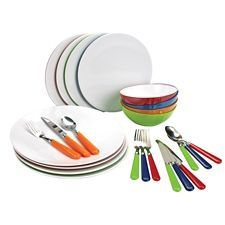 Outbound Melamine Dish Set is durable and easy to clean | Canadian Tire