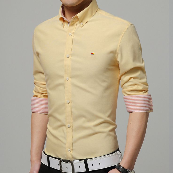 Men's Dress Shirts, Elegant Smart Casual Cotton Shirt, Slim, 7 Colors