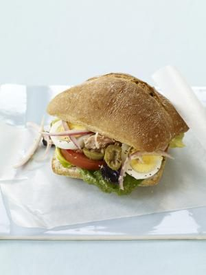 Moroccan Bocadillos - Like a Tuna Nicoise Sandwich With Lots of Extras
