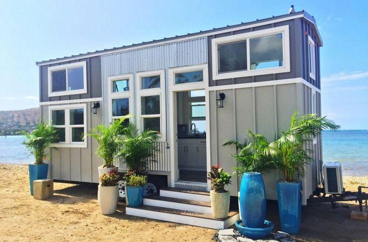 La tiny house Victor crée par Ma petite maison est réalisée sur une remorque de 6 mètres par 2,45 mètres pour une..