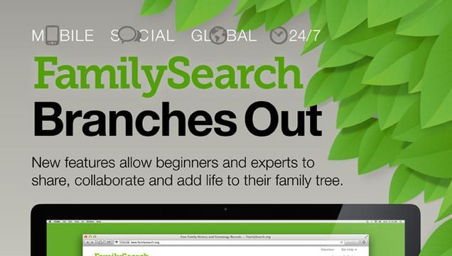 Mormon Newsroom: A new version of FamilySearch.org, which launched today, makes family history research more interactive and conveniently collaborative, with added social media, photo and story elements that create a more personal family history experience for each user. #lds