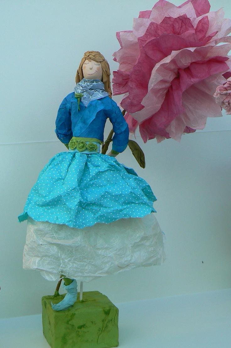 poupée en papier maché: En Papier, Paper Mache, Personal Creation