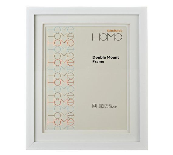 Buy 8x10 Double Mount Photo Frame - White at Argos.co.uk, visit Argos.co.uk to shop online for Photo frames, Wall art, pictures and photo frames, Home furnishings, Home and garden