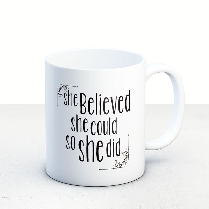 """Graduation gifts for her, college graduation gift,""""She Believed She Could So She Did"""" // 11 oz 15oz Coffee Mug, tea mug, gift ideas MU24 by artRuss on Etsy"""