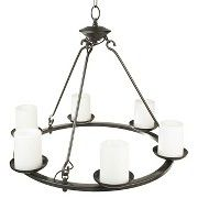 Threshold Solar Chandelier - 6 candles