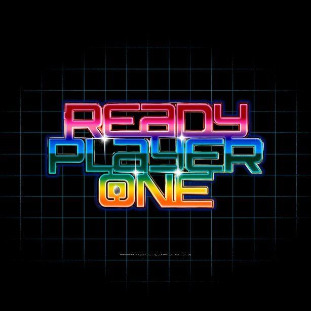 Ready Player One Rainbow Logo Canvas Print Ready Player One Ready Player One Movie Movie Gift