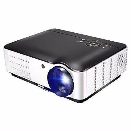 ELEGIANT HD 1080p LED LCD Projecteur Portable Vidéoprojecteur 1280×800 HDMI/USB/PC/TV/VEDIO/AV 2800 lumens Pour Maison Cinéma/Jeux vidéos