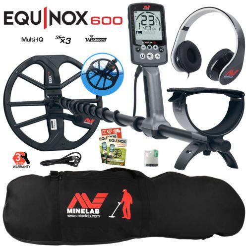 Minelab EQUINOX 600 Multi-IQ Metal Detector with Black