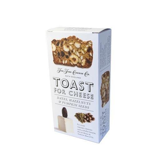 As tostas 'Toast' são finas, leves e crocantes, mas o que as torna realmente únicas é a sua composição: 60%  das tostas são frutas, nozes e sementes. Ideal para acompanhar Queijos cremosos como o Serra da Estrela, Chaource, Brillat-Savarin, Brie de Meaux e Vacherin Mont D'Or.