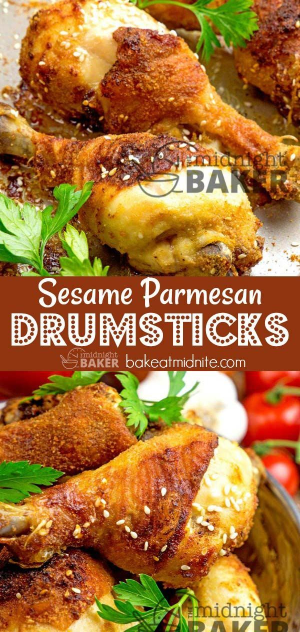 Yummy Drumsticks Flavored With Nutty Sesame Seeds And Bold Parmesan