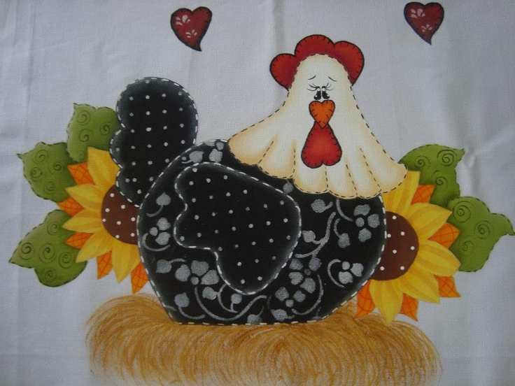 Pinterest dibujos country gallinas imagui - Gallinas en patchwork ...
