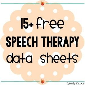 Speechy Musings: More than 15 different data sheets for speech therapy! All…