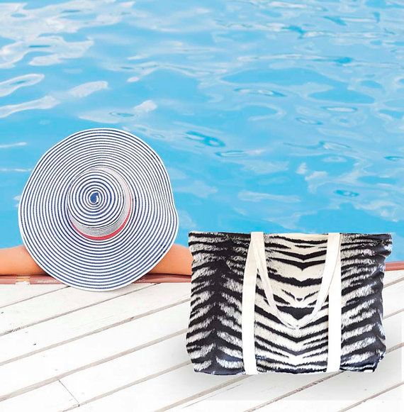 Borsa in tessuta stampa zebra. Woven zebra printed bag di Magzero1