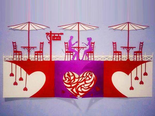 Kirigami pattern Cafe waiting love, Pattern kirigami Gear Heart Pattern kirigami 0 pattern kirigami 90 pattern kirigami 180 pattern kirigami 180 độ