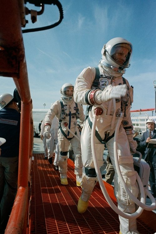 Gemini 8 Neil Armstrong and Dave Scott.
