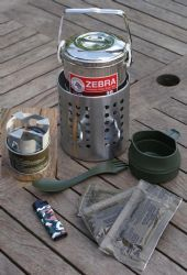 The Bushcraft Store Hobo Stove - Complete Set with Zebra Billy Tin