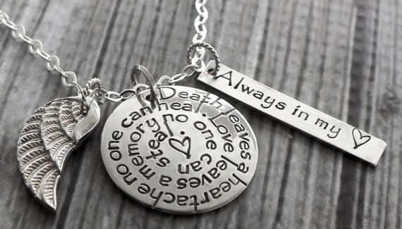 Sympathy Gifts | Memorial Gifts | Bereavement Gifts | Condolence Gift | Custom Personalized Necklace
