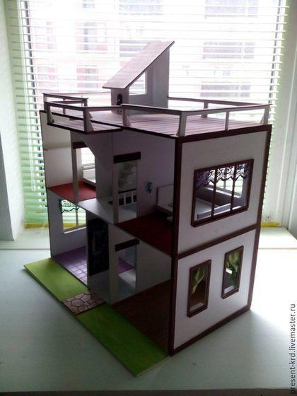 Кукольный дом ручной работы. Ярмарка Мастеров - ручная работа. Купить Кукольный домик. Handmade. Разноцветный, Дом для кукол