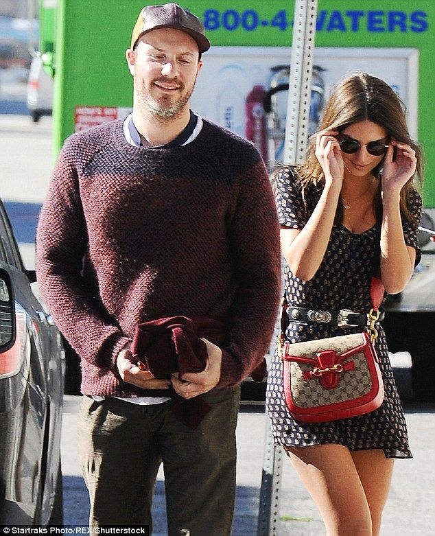 Daytime date: Emily Ratajkowksi was spotted leaving lunch in Los Angeles with boyfriend Jeff Magid on Tuesday