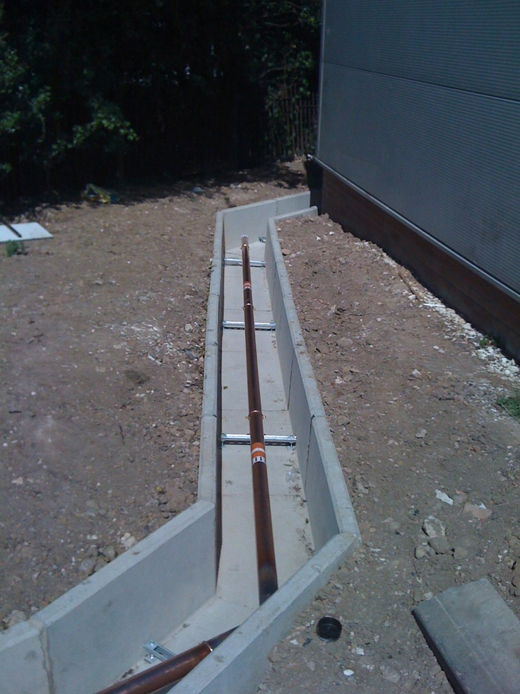 Precast Concrete Channel Housing A Steam Pipe From A Uk