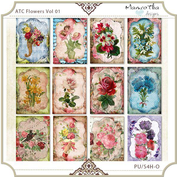 ATC Flowers Vol 01
