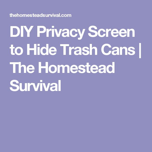 25+ best ideas about Hide trash cans on Pinterest | Trash ...