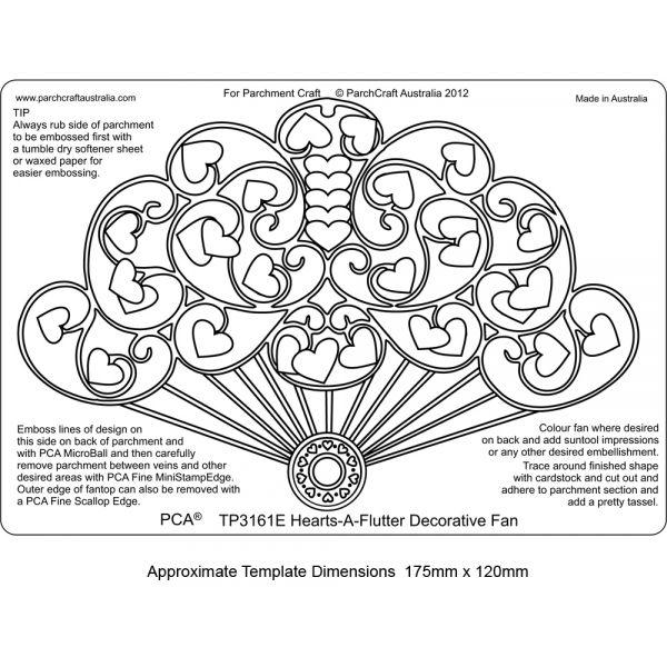 EMBOSSING Easy Hearts a Flutter decorative Fan - Baste-Welt Schobes