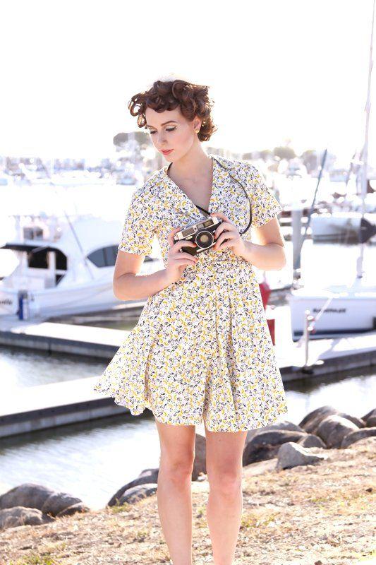Handmade vintage style12000, Dresses Style, Ava Dresses, Classy Vintage, Alice Nightingale, Divination Dresses, Poppies Dresses, Dresses Ava, Vintage Style