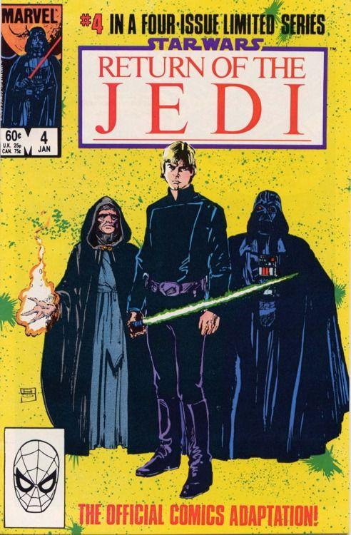 Comic Book Covers » Star Wars: Return Of The Jedi #4, January 1084,...
