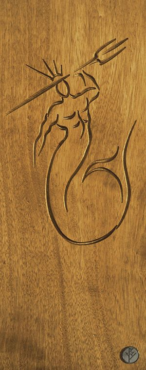 DrevoDesigns- Poseidon - Iroko wood