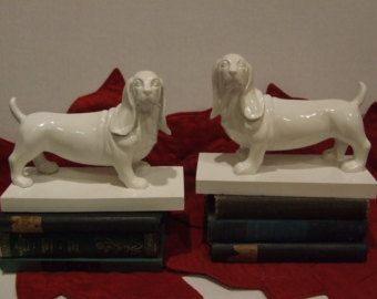 Dog Bookends Bookends Dachshund Bookends Office Decor