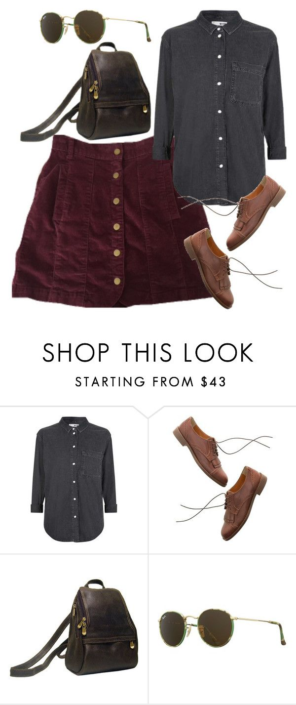 """""""Untitled #5799"""" by rachellouisewilliamson ❤ liked on Polyvore featuring Topshop, Madewell, Le Donne and Ray-Ban"""