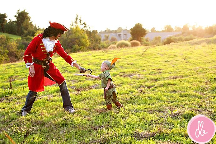 Capt. Hook and Peter Pan costumes