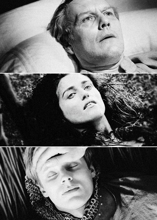 The End of the Pendragons. I love how Uther and Morgana both have fear on their faces, because they are so much alike, and Arthur meets his end with peace.