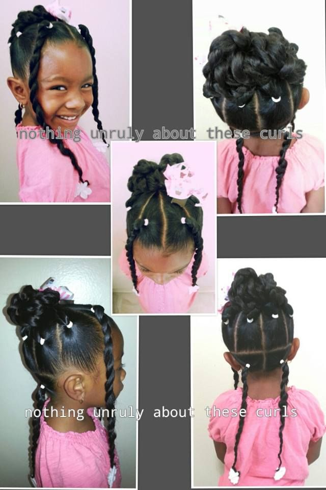 Outstanding 1000 Images About Natural Kids Buns On Pinterest Protective Short Hairstyles For Black Women Fulllsitofus