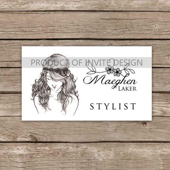 Elegant Hair Stylist Business Card by InviteDesign on Etsy, $20.00