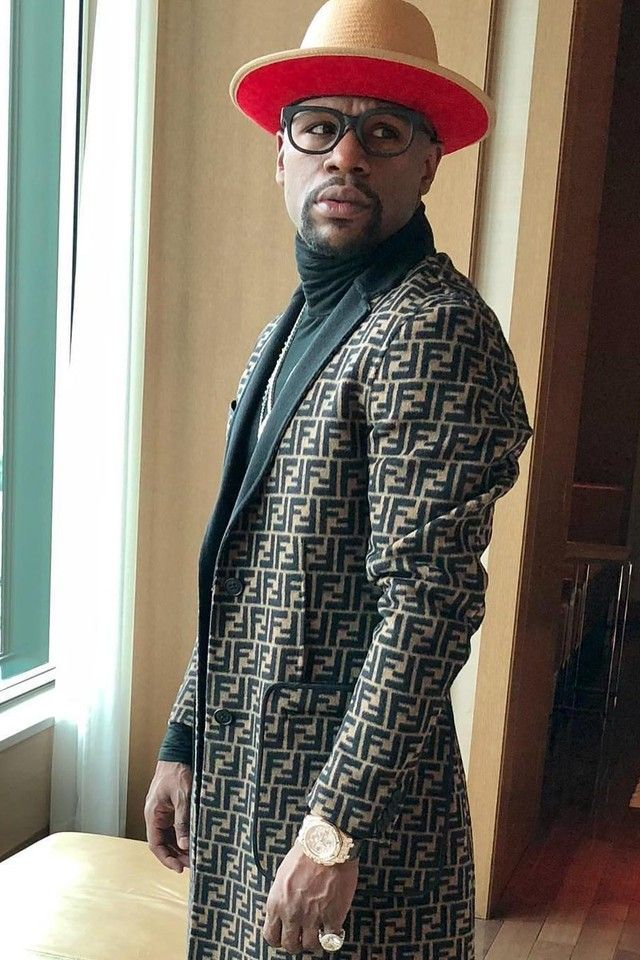 420cbbc5e Floyd Mayweather wearing Fendi FF Double Wool Cloth Coat , Keith and ...